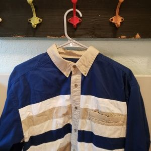 Wrangler Western Cowboy Rodeo Striped Shirt sz M